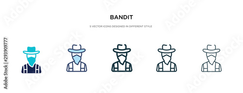 Photo bandit icon in different style vector illustration