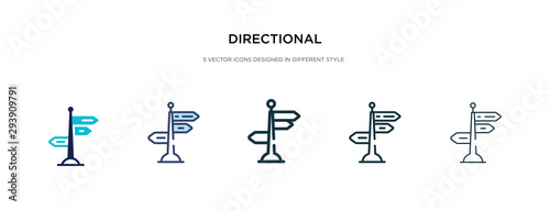 Fotografía directional icon in different style vector illustration