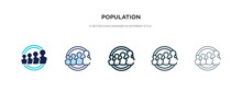 Population Icon In Different S...