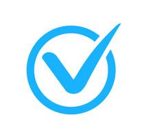 Check Mark Correct Icon. Blue ...
