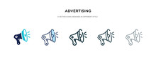 Advertising Icon In Different ...