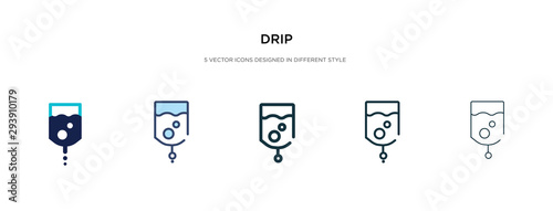 Slika na platnu drip icon in different style vector illustration