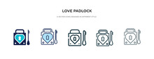 Love Padlock Icon In Different...
