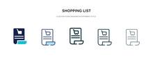 Shopping List Icon In Differen...