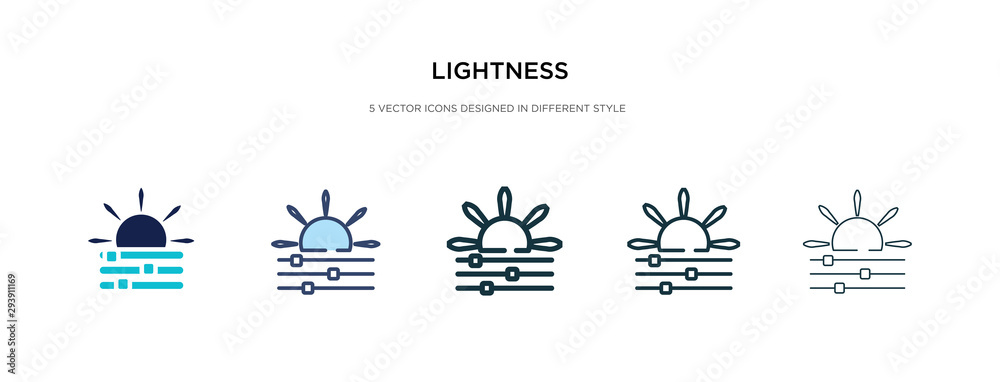 Fototapety, obrazy: lightness icon in different style vector illustration. two colored and black lightness vector icons designed in filled, outline, line and stroke style can be used for web, mobile, ui