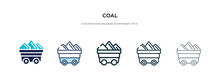 Coal Icon In Different Style V...