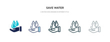 Save Water Icon In Different S...
