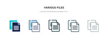 Various Files Icon In Differen...
