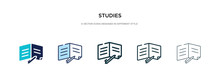 Studies Icon In Different Styl...