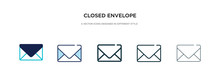 Closed Envelope Icon In Differ...