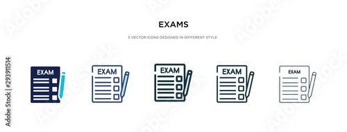 exams icon in different style vector illustration Canvas-taulu