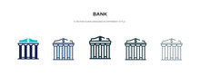 Bank Icon In Different Style V...