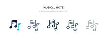 Musical Note Icon In Different...