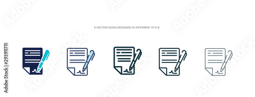Fotomural  icon in different style vector illustration