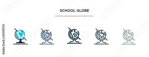 Fotomural  school globe icon in different style vector illustration
