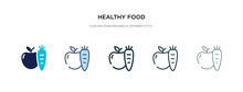 Healthy Food Icon In Different Style Vector Illustration. Two Colored And Black Healthy Food Vector Icons Designed In Filled, Outline, Line And Stroke Style Can Be Used For Web, Mobile, Ui