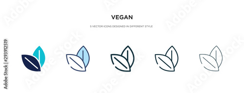 Foto vegan icon in different style vector illustration
