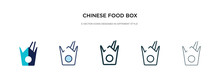 Chinese Food Box Icon In Different Style Vector Illustration. Two Colored And Black Chinese Food Box Vector Icons Designed In Filled, Outline, Line And Stroke Style Can Be Used For Web, Mobile, Ui