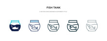 Fish Tank Icon In Different Style Vector Illustration. Two Colored And Black Fish Tank Vector Icons Designed In Filled, Outline, Line And Stroke Style Can Be Used For Web, Mobile, Ui