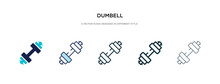 Dumbell Icon In Different Styl...