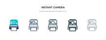 Instant Camera Icon In Differe...