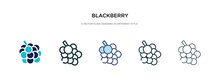 Blackberry Icon In Different S...
