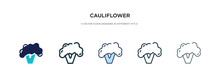 Cauliflower Icon In Different ...