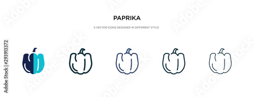 Fotografia, Obraz paprika icon in different style vector illustration