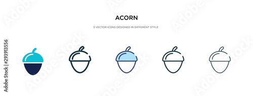acorn icon in different style vector illustration Wallpaper Mural