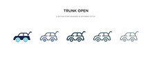 Trunk Open Icon In Different S...