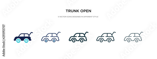 Fototapeta trunk open icon in different style vector illustration