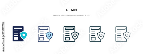 plain icon in different style vector illustration Wallpaper Mural