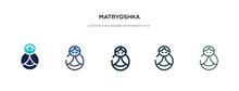 Matryoshka Icon In Different S...