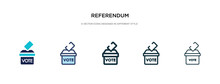 Referendum Icon In Different S...