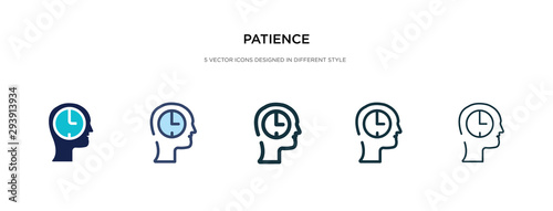 patience icon in different style vector illustration Fototapet