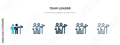 Canvastavla team leader icon in different style vector illustration