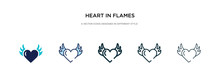 Heart In Flames Icon In Differ...
