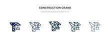 Construction Crane Icon In Dif...