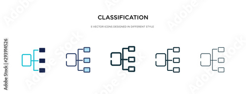 Photo classification icon in different style vector illustration