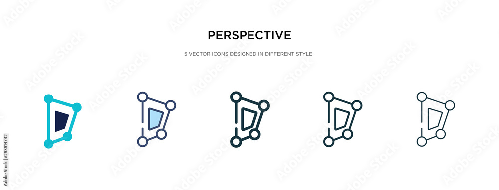 Fototapeta perspective icon in different style vector illustration. two colored and black perspective vector icons designed in filled, outline, line and stroke style can be used for web, mobile, ui