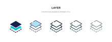 Layer Icon In Different Style Vector Illustration. Two Colored And Black Layer Vector Icons Designed In Filled, Outline, Line And Stroke Style Can Be Used For Web, Mobile, Ui