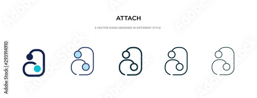 attach icon in different style vector illustration Wallpaper Mural