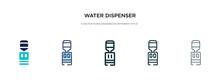 Water Dispenser Icon In Differ...