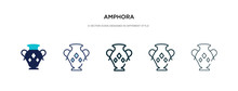 Amphora Icon In Different Styl...