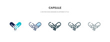 Capsule Icon In Different Styl...