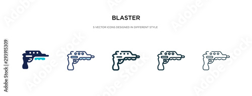 blaster icon in different style vector illustration Canvas Print