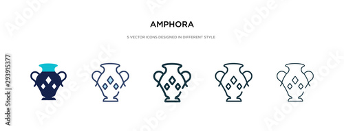 Photo amphora icon in different style vector illustration