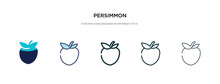 Persimmon Icon In Different St...