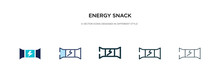 Energy Snack Icon In Different...