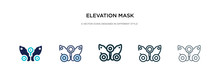 Elevation Mask Icon In Differe...